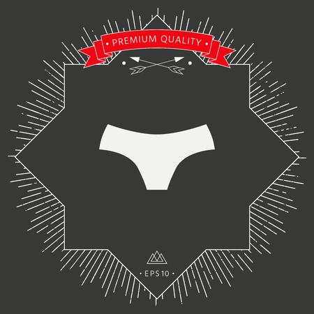 Underwear icon template