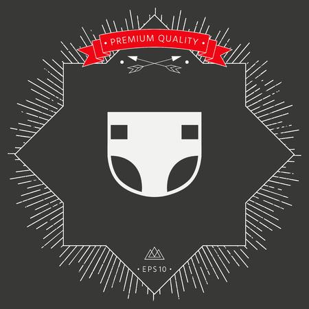 Nappy icon symbol Vector illustration.