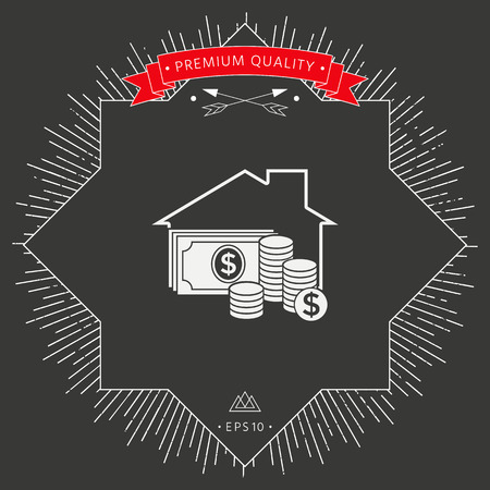 Home insurance icon Vector illustration. Vektoros illusztráció