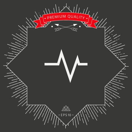ECG wave - cardiogram symbol. Medical icon Vector illustration. Illustration