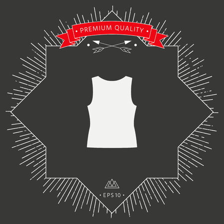 Women T-shirts, the silhouette  in black background.