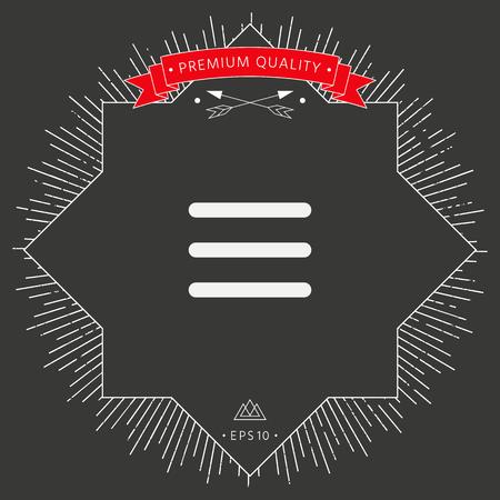 Symbole d'icône de menu