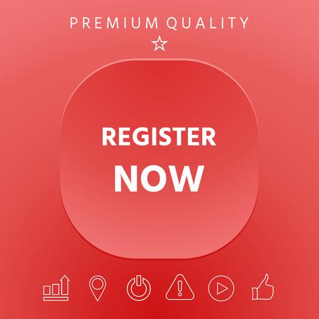 Register now graphic elements design illustration.