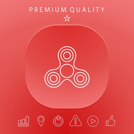 Spinner icon graphic elements design illustration.