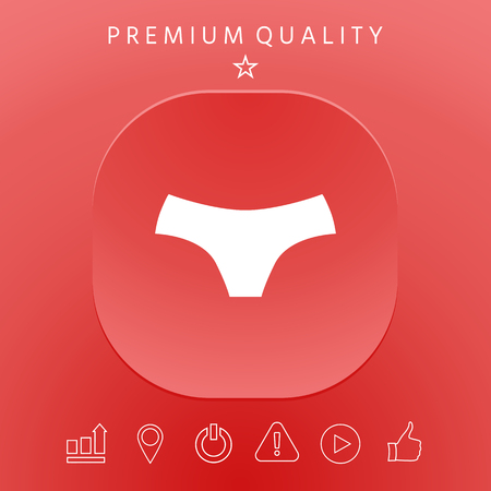 Women panties, the silhouette. Menu item in the web design