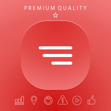 Modern menu icon for mobile apps and websites