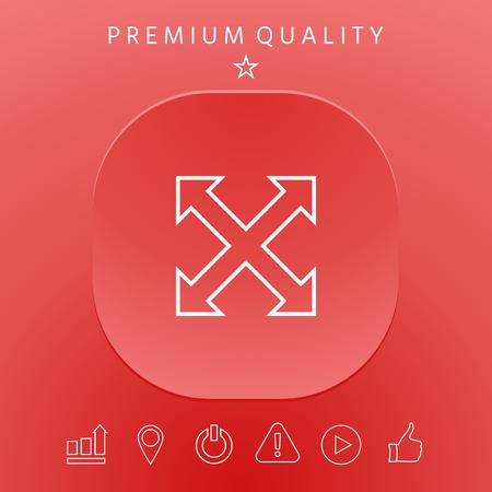 Arrow icon graphic elements design illustration.