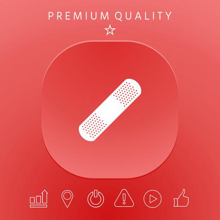 Adhesive bandage icon graphic elements design illustration.