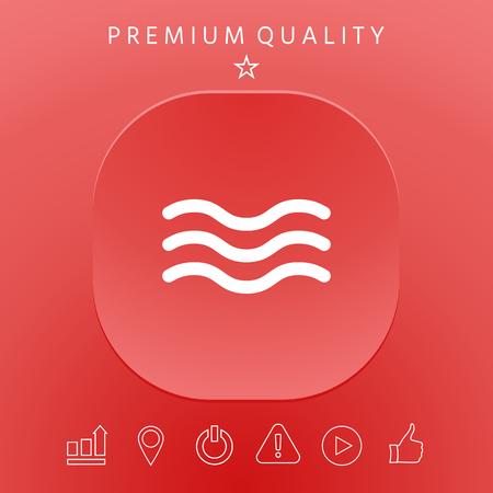 Wave Icon graphic elements design illustration. Ilustração