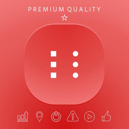 Menu button icons graphic elements design illustration.