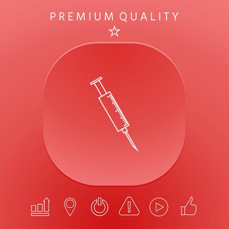 Medical syringe icon graphic elements design illustration.