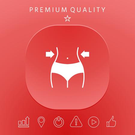 Fit belly slimming concept graphic elements design illustration. 일러스트