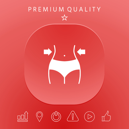 Fit belly slimming concept graphic elements design illustration. 向量圖像