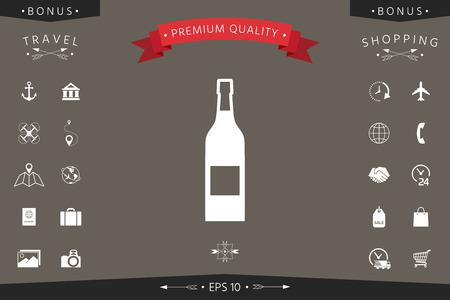 Bottle of wine icon