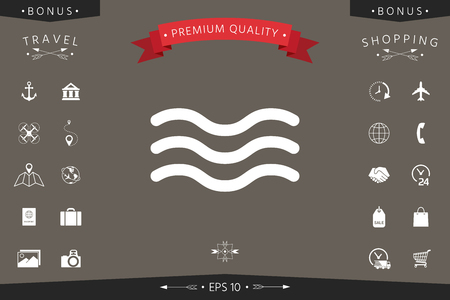 Waves icon Signs and symbols - graphic elements for your design Vector illustration.