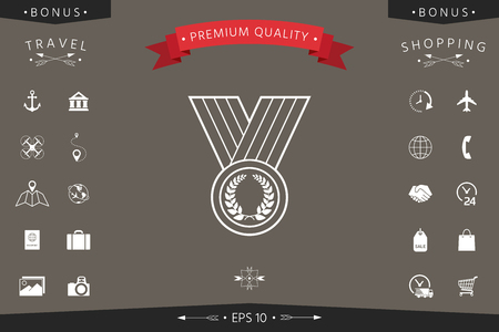 Medal icon Signs and symbols - graphic elements for your design Vector illustration.