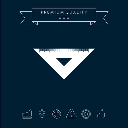 Triangular ruler Sign graphic elements for your design.