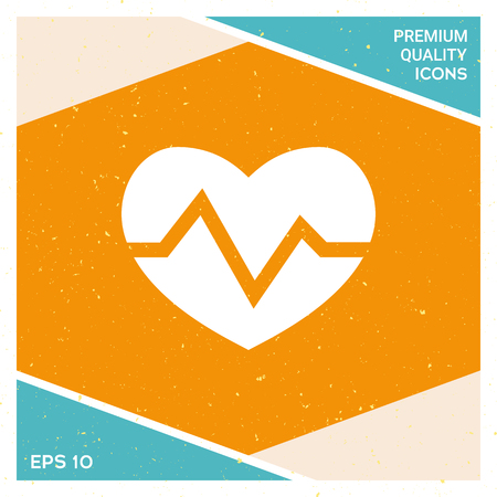 Heart medical icon vector illustration