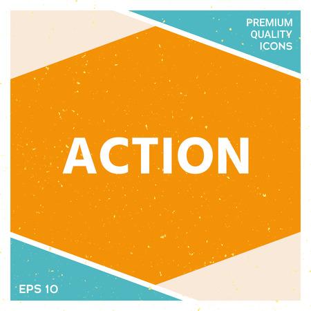 Action text vector illustration 일러스트