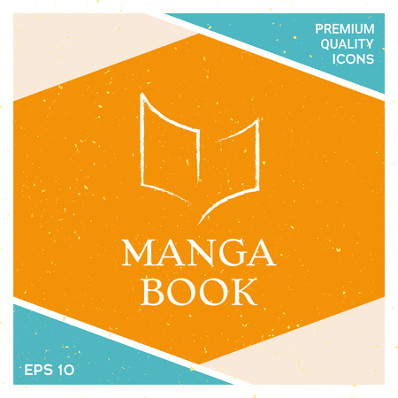 Manga book icon vector illustration Ilustrace
