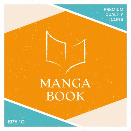 Manga book icon vector illustration Illustration