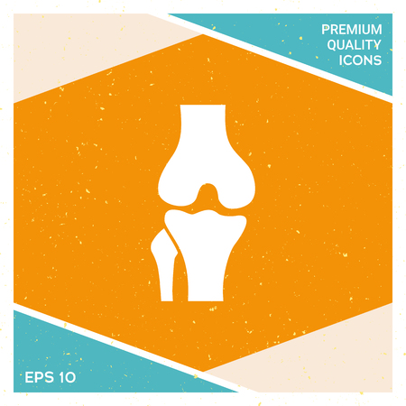 Knee joint icon. Signs and symbols - graphic elements for your design. Stock Illustratie