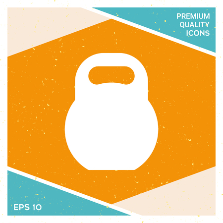 Kettle bell icon. Signs and symbols - graphic elements for your design.