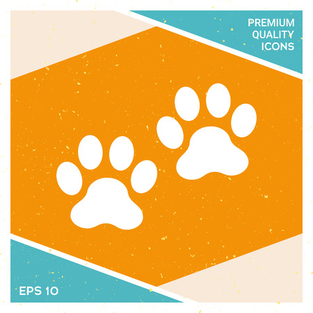 Paws icon signs and symbols graphic elements for your design.