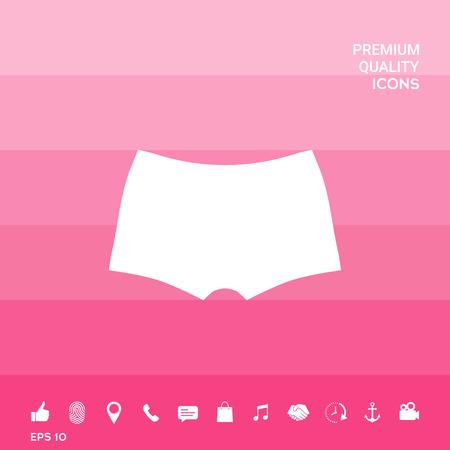 Intimo maschile, la silhouette. Voce di menu nel web design.