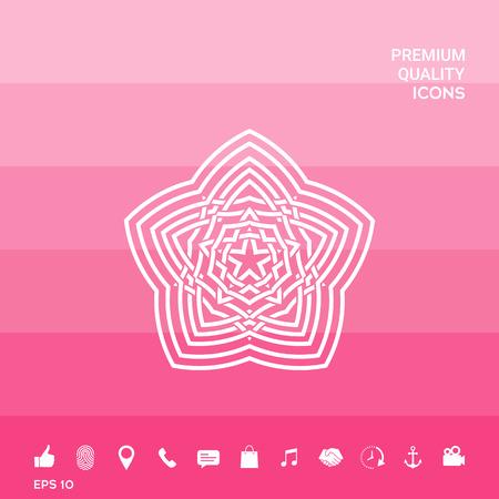 Geometrisch oosters Arabisch patroon. Element voor uw ontwerp. Logo