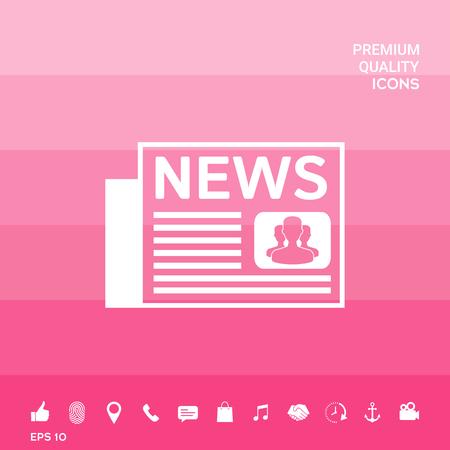 Symbole d'icône de journaux