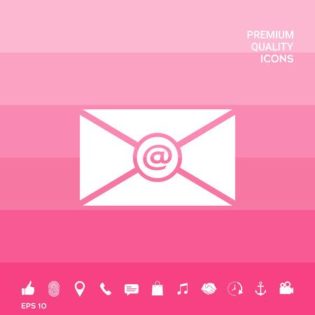 Símbolo del icono de correo electrónico Foto de archivo - 102094092