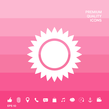 Sun icon symbol