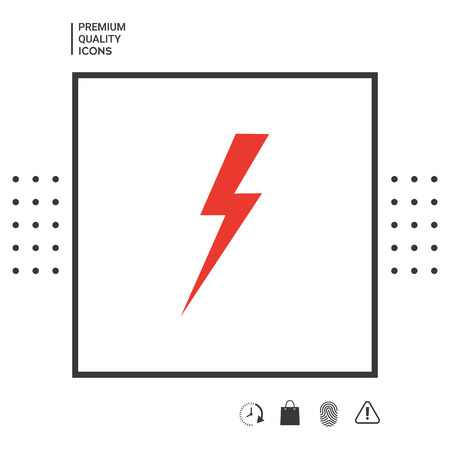 Thunderstorm lightning icon Vectores