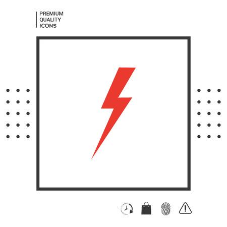 Thunderstorm lightning icon 矢量图像