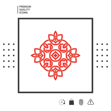 Geometric oriental arabic pattern. Element for your design. Signs and symbols - graphic elements for your design Stock Illustratie