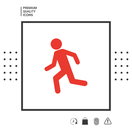 Running man, run icon . Signs and symbols - graphic elements for your design