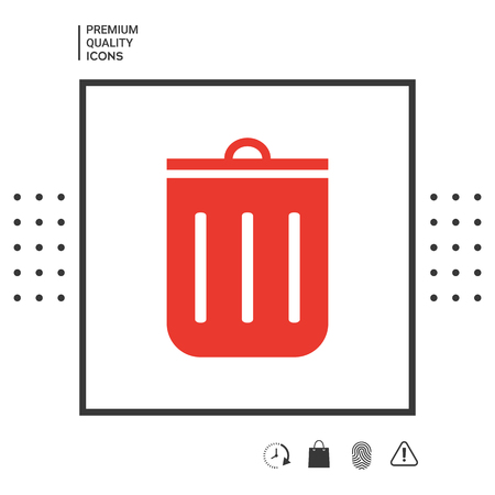 Trash can icon . Signs and symbols - graphic elements for your design Illustration