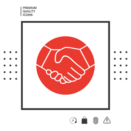 Symbol of handshake in circle icon . Signs and symbols - graphic elements for your design