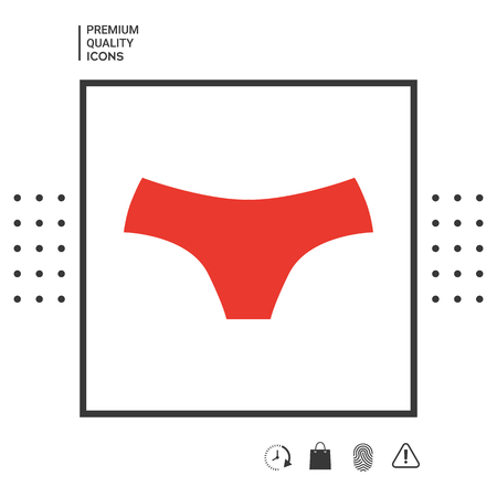 Women panties, the silhouette. Menu item in the web design. Stock fotó - 101060895