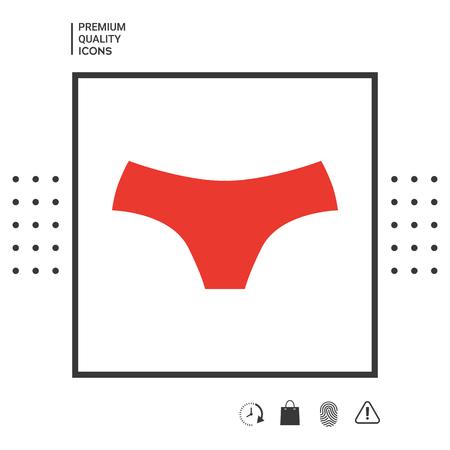 Women panties, the silhouette. Menu item in the web design.