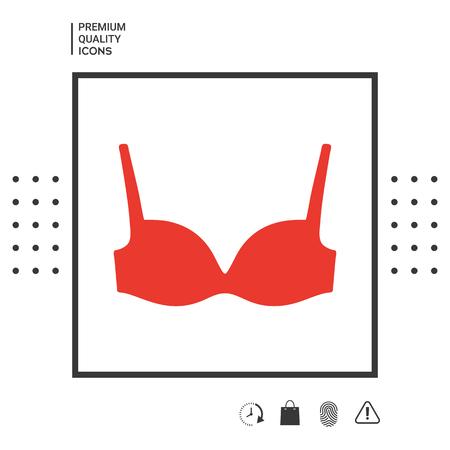 Woman underwear, the silhouette. Menu item in the web design.