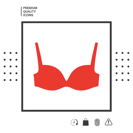 Woman underwear, the silhouette. Menu item in the web design.