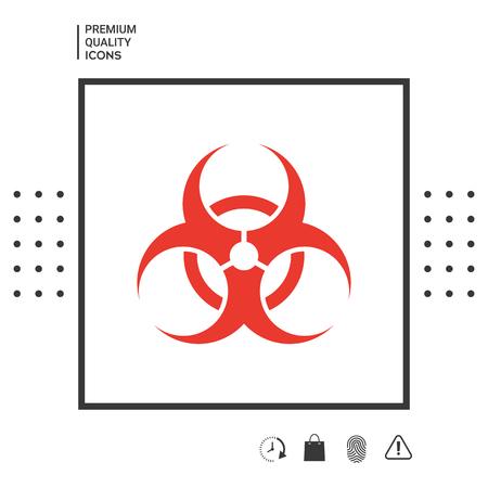 Biological hazard sign Illustration