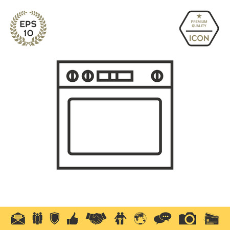 Oven linear icon Illustration
