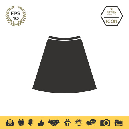 Skirt icon, the silhouette. Menu item in the web design