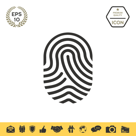 Fingerprint. Scanned finger icon