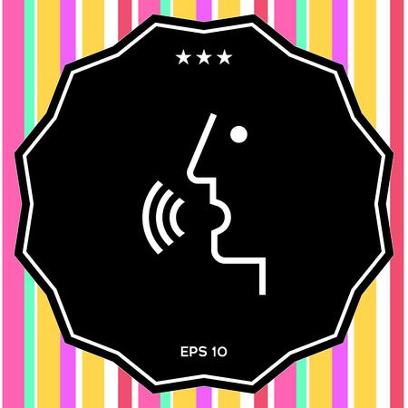 Voice control, person talking - icon