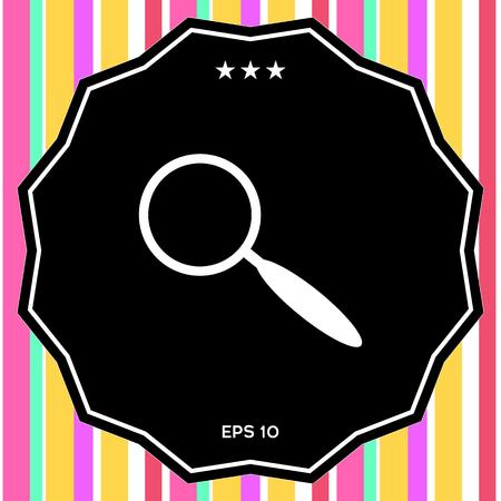 Search icon symbol Stock Photo