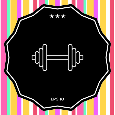 Barbell line icon Imagens